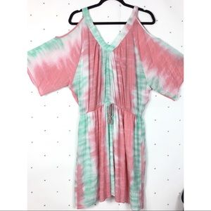 Christian Caliendo tie dye cover up tunic dress